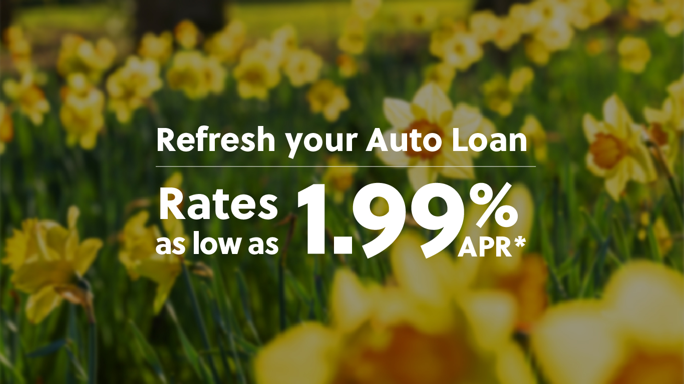 Refresh your auto loan with rates as low as 1.99* APR