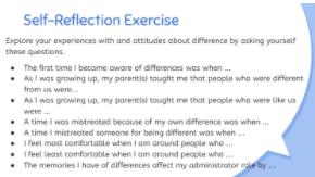 Self reflection exercise