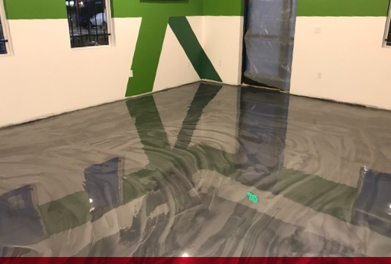 new floor coating at livwell dispensary