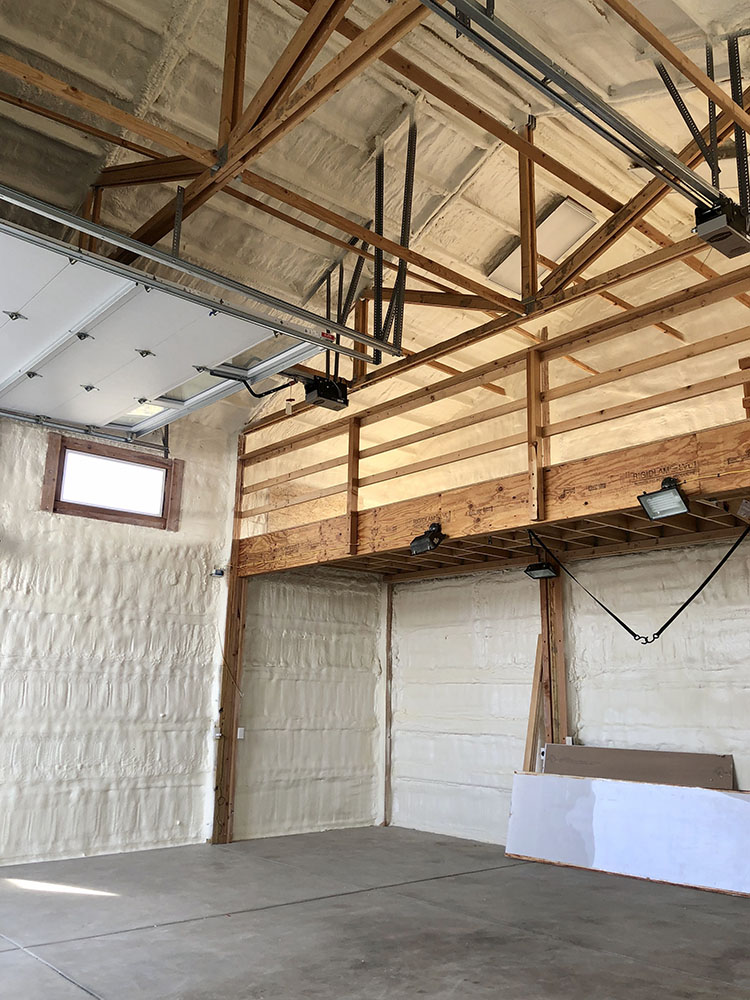 Eerie, CO pole bar with spray foam insulation on walls and ceiling