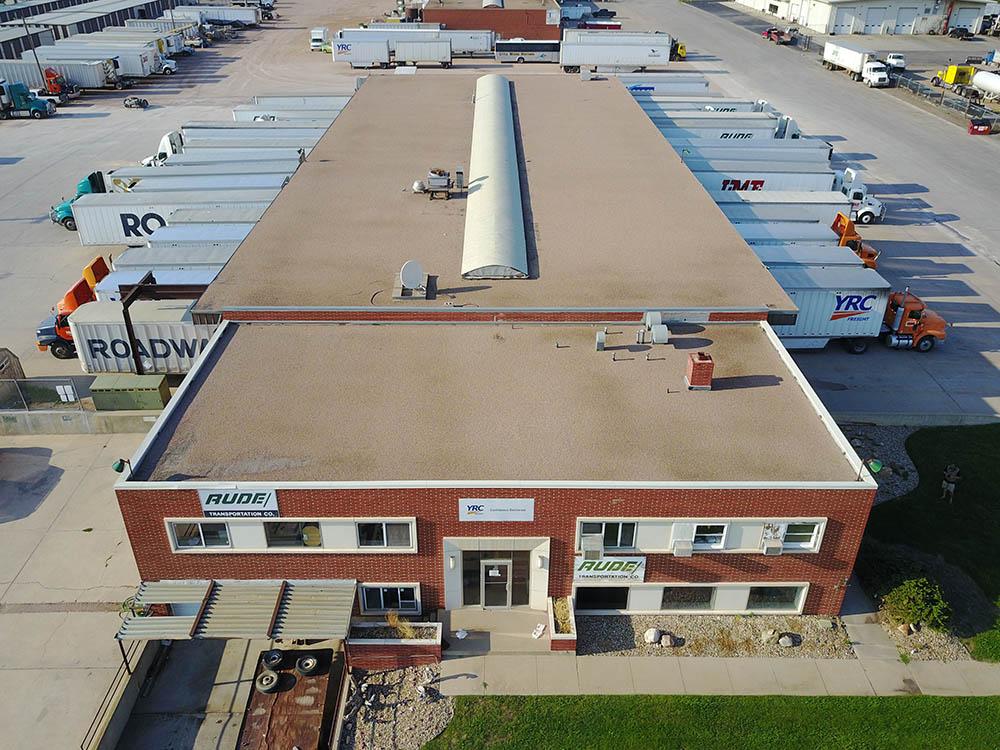 Denver, CO trucking center roof before spray foam.