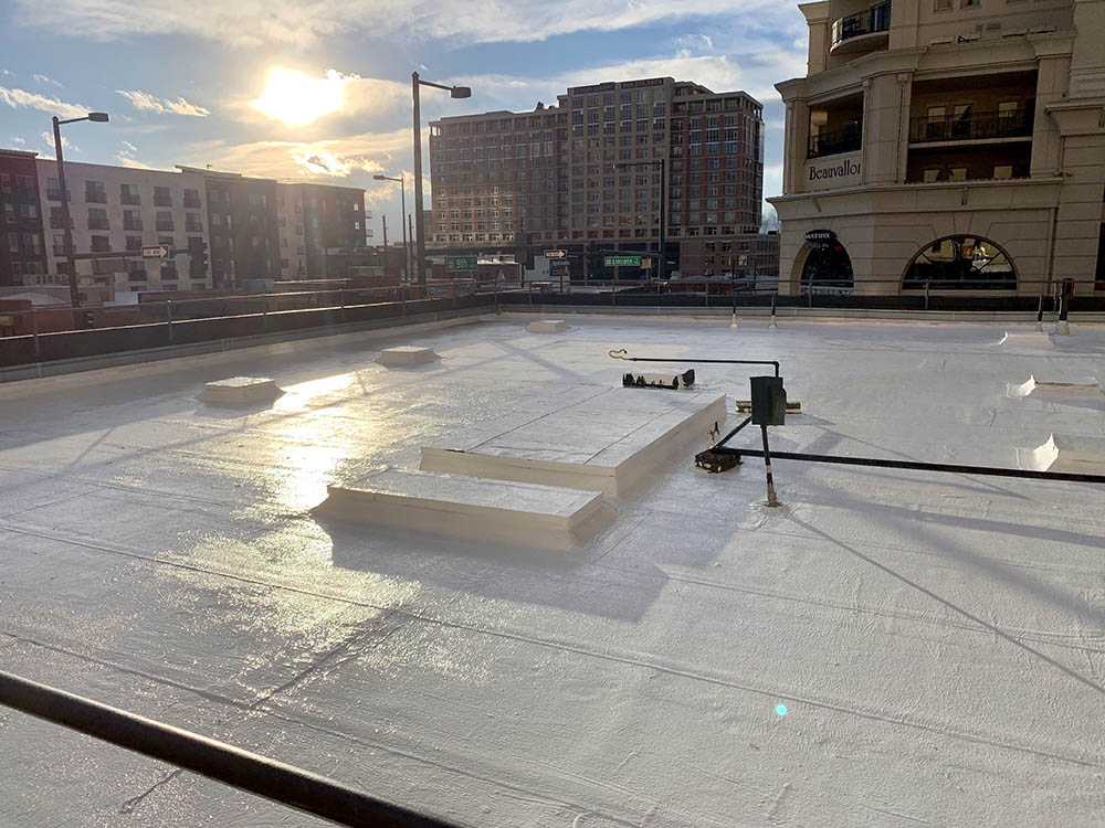 Sky Rise downtown Denver roof coating.