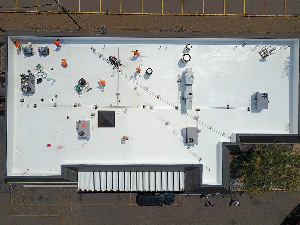 Fanelli's Amici's Restaurant roofing in Wheat Ridge, CO.