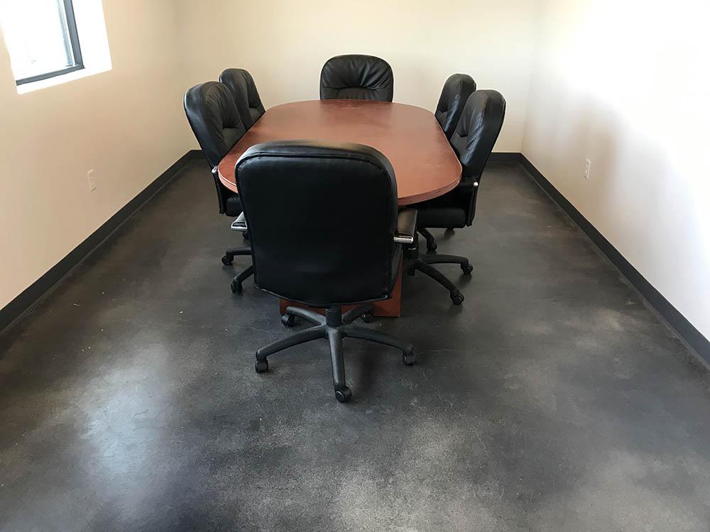 Office building cement floor coating.