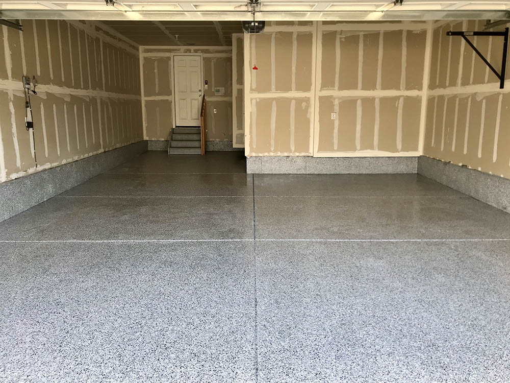 Aurora, CO garage epoxy floor.