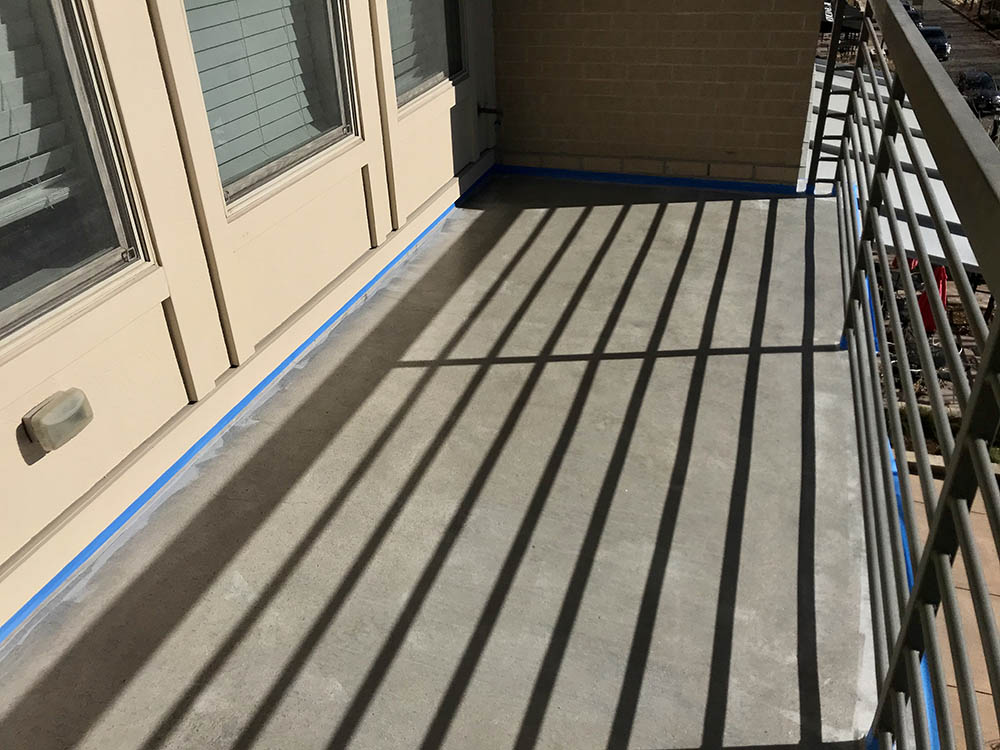 Villagio condo deck floor coating.