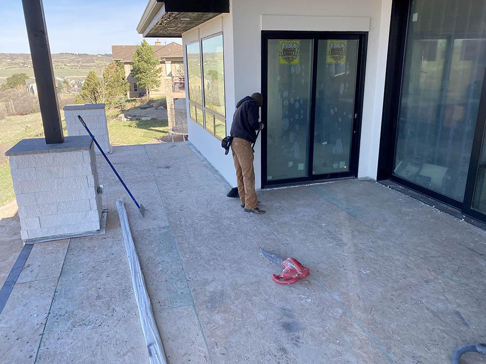 New house deck waterproofing before.