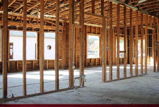 new construction framed building