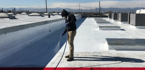 titan applicator employee coating roof