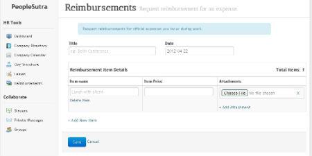 sumHR Reimbursement feature