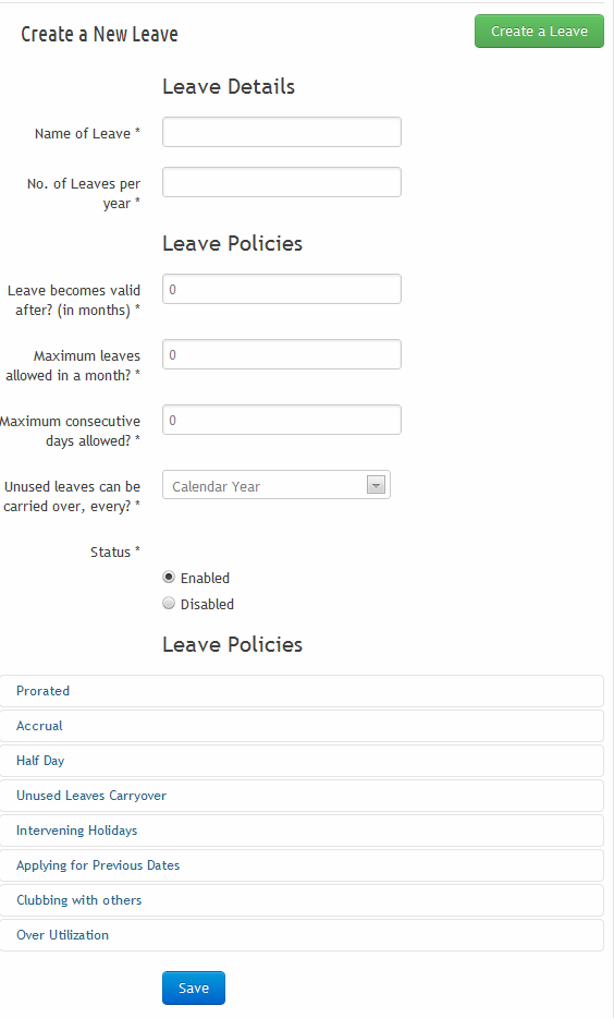 sumHR Updated Leave Policy