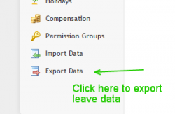 sumHR HRMS Export Leave Data