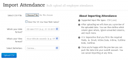 Import Attendance HR Software