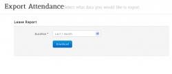 Export Attendance HR Software
