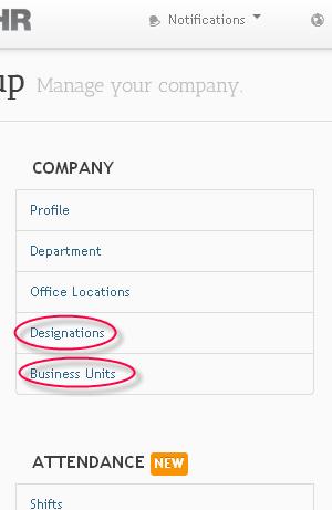 sumHR Business Units Designations
