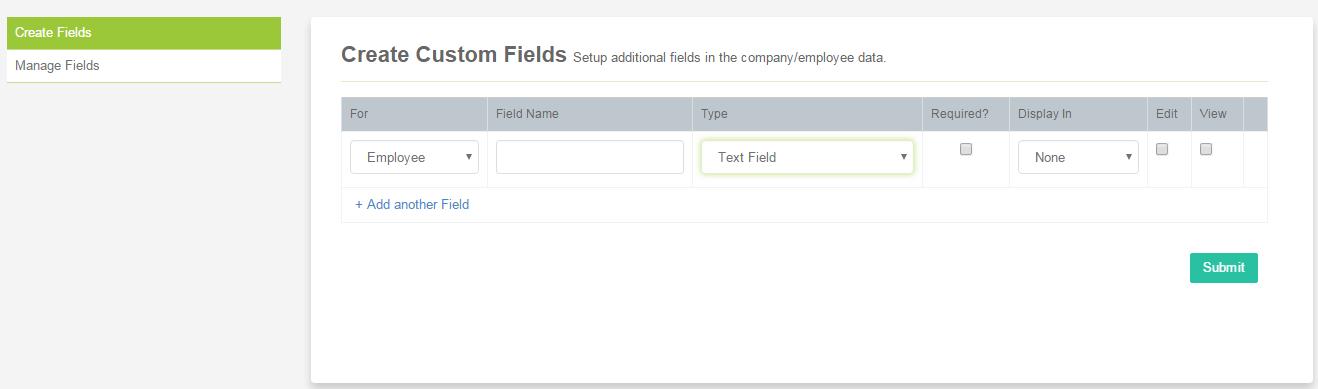custom fields sumhr