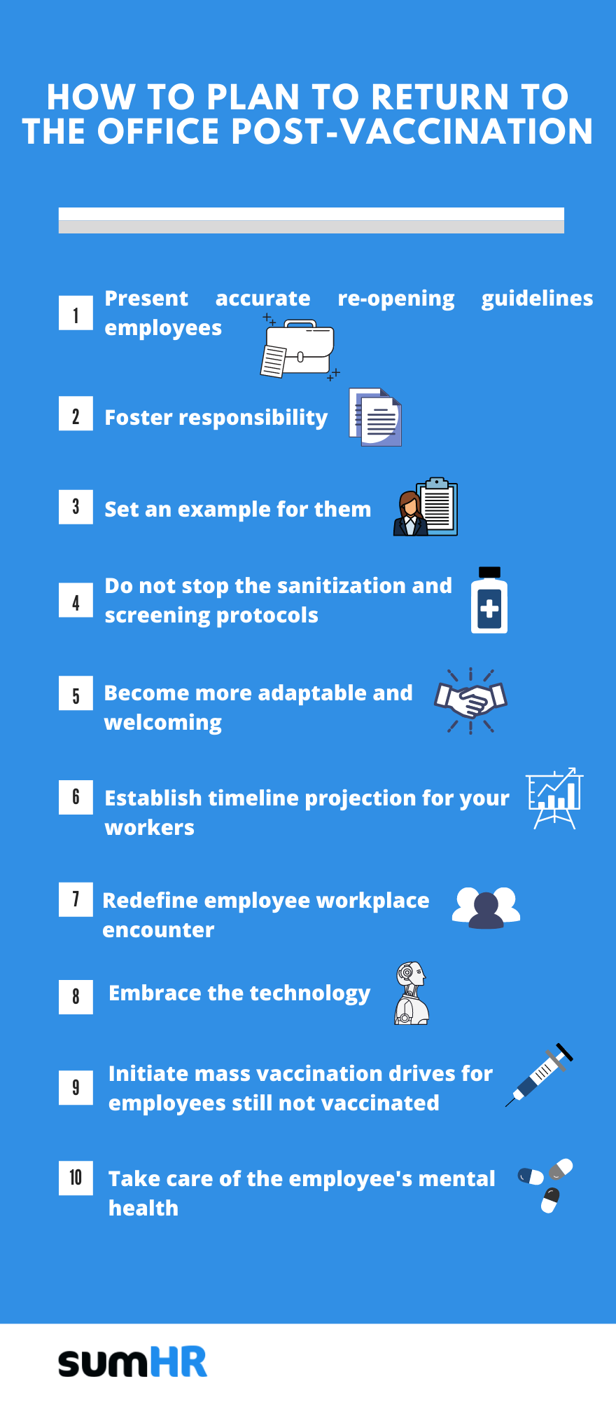 steps to take before you return to the office post-vaccination