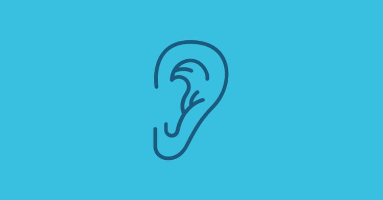 illustration of an ear.