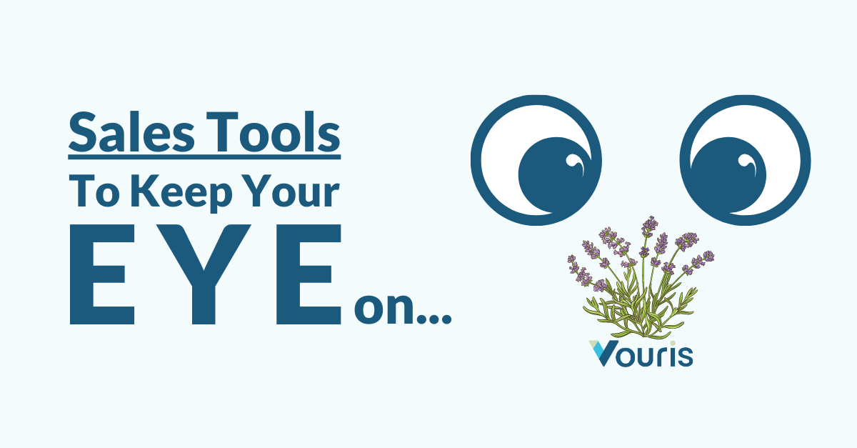 Sales Tools to Keep Your Eye On with eyes look at lavendar