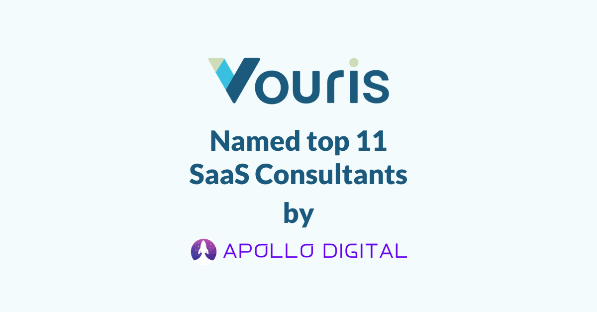 Text that says Apollo Digital names Vouris as top SaaS consultant to hire in 2020