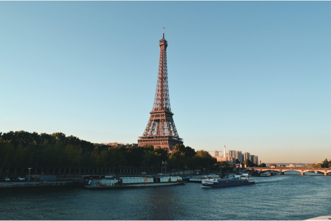 The Eiffel tower in Paris, France - home of the Paris Agreement.