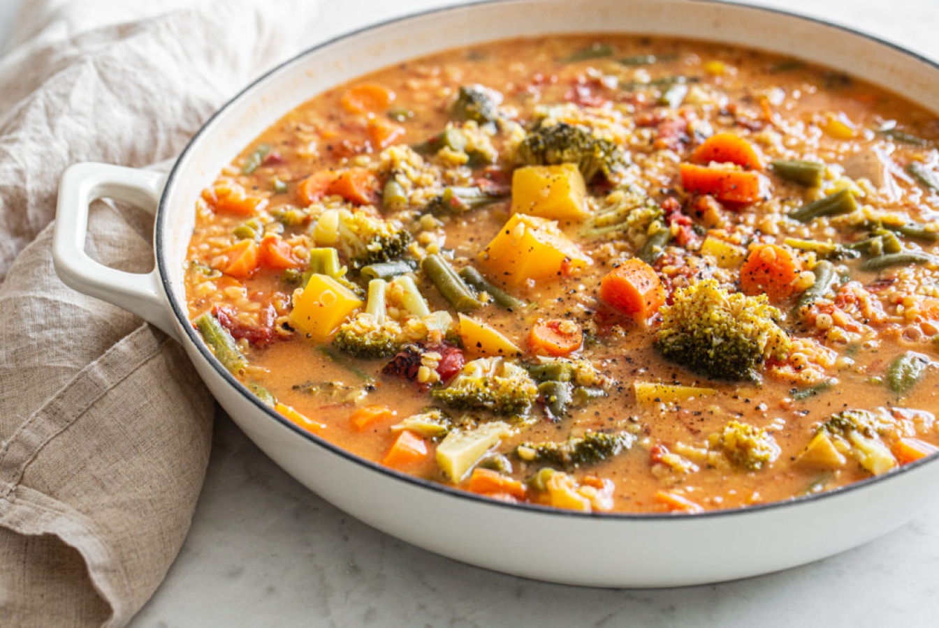 A bowl of vegetable curry