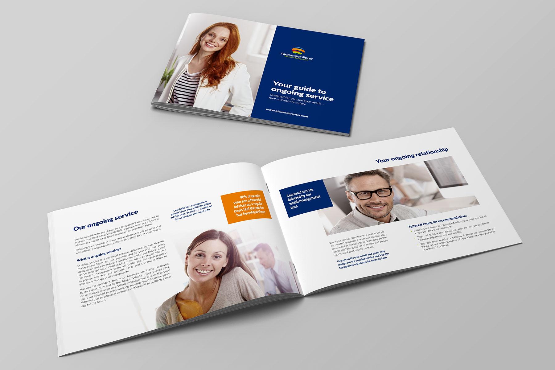 Brochure design for Alexander Peter branding