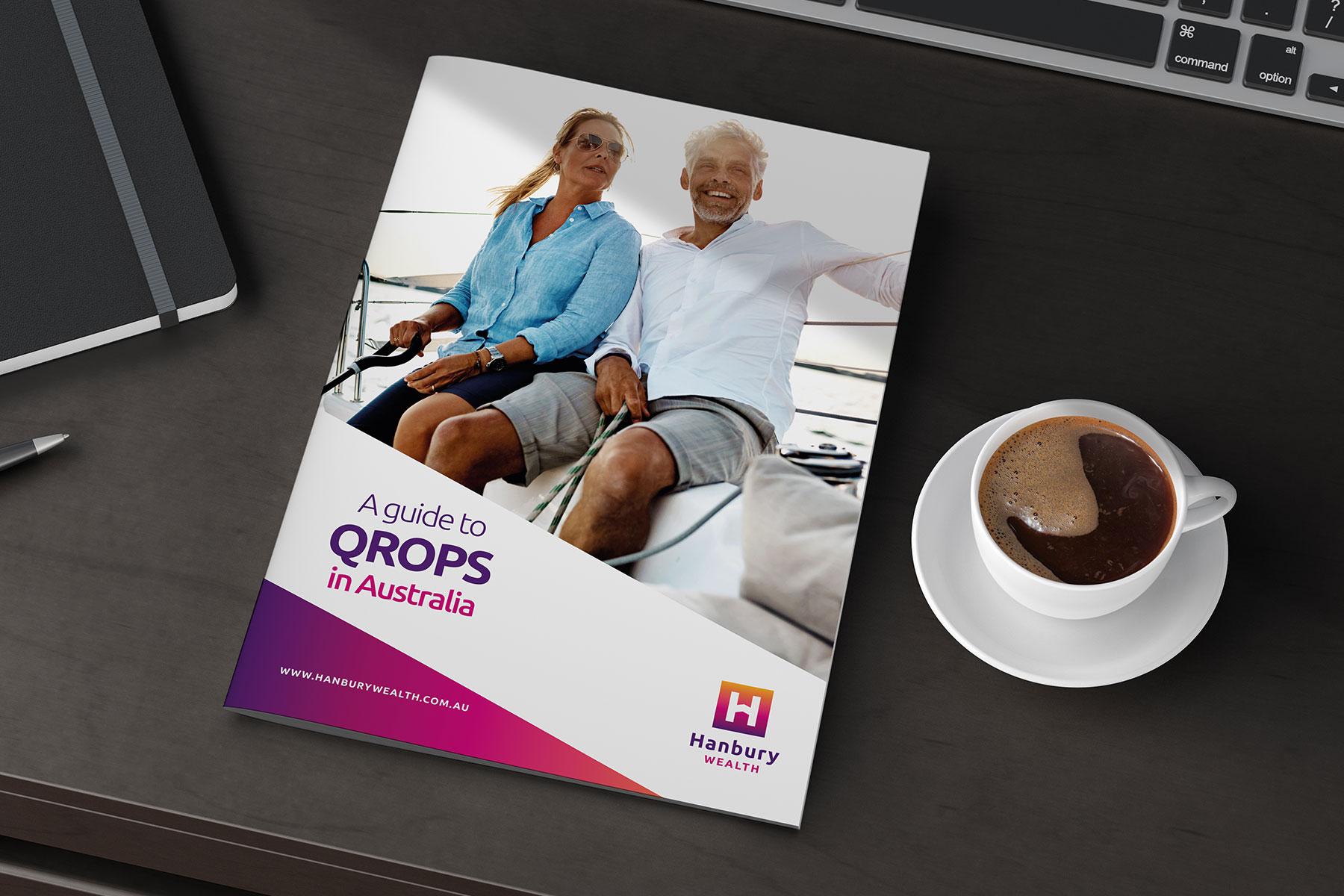 Brochure design for Hanbury Wealth branding