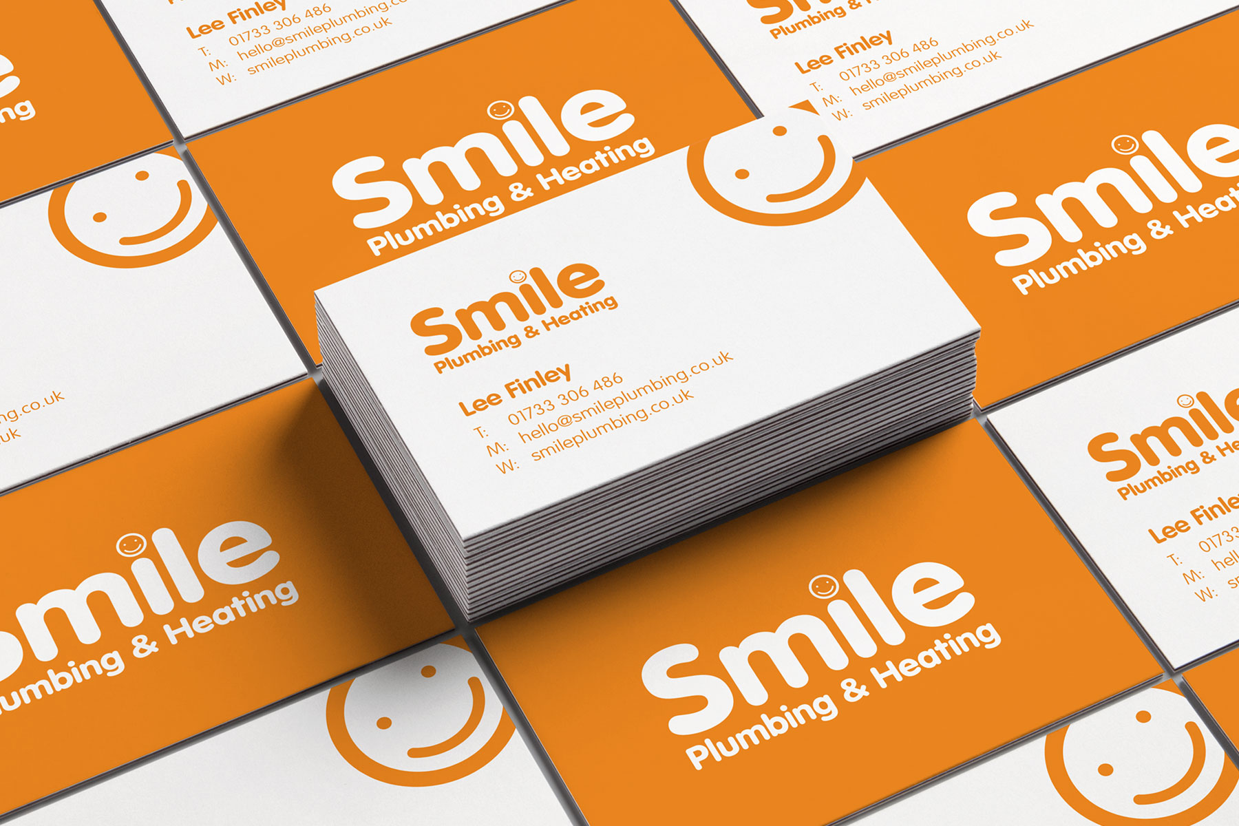 Business cards for Smile Plumbing branding