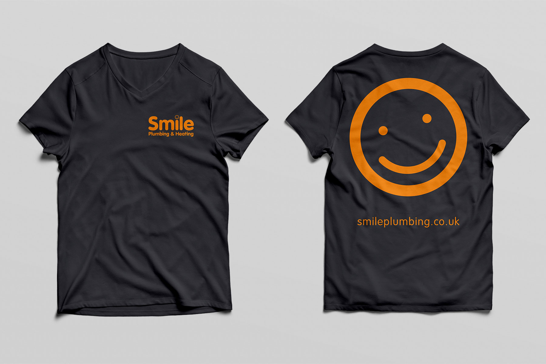 Workwear design for Smile Plumbing branding