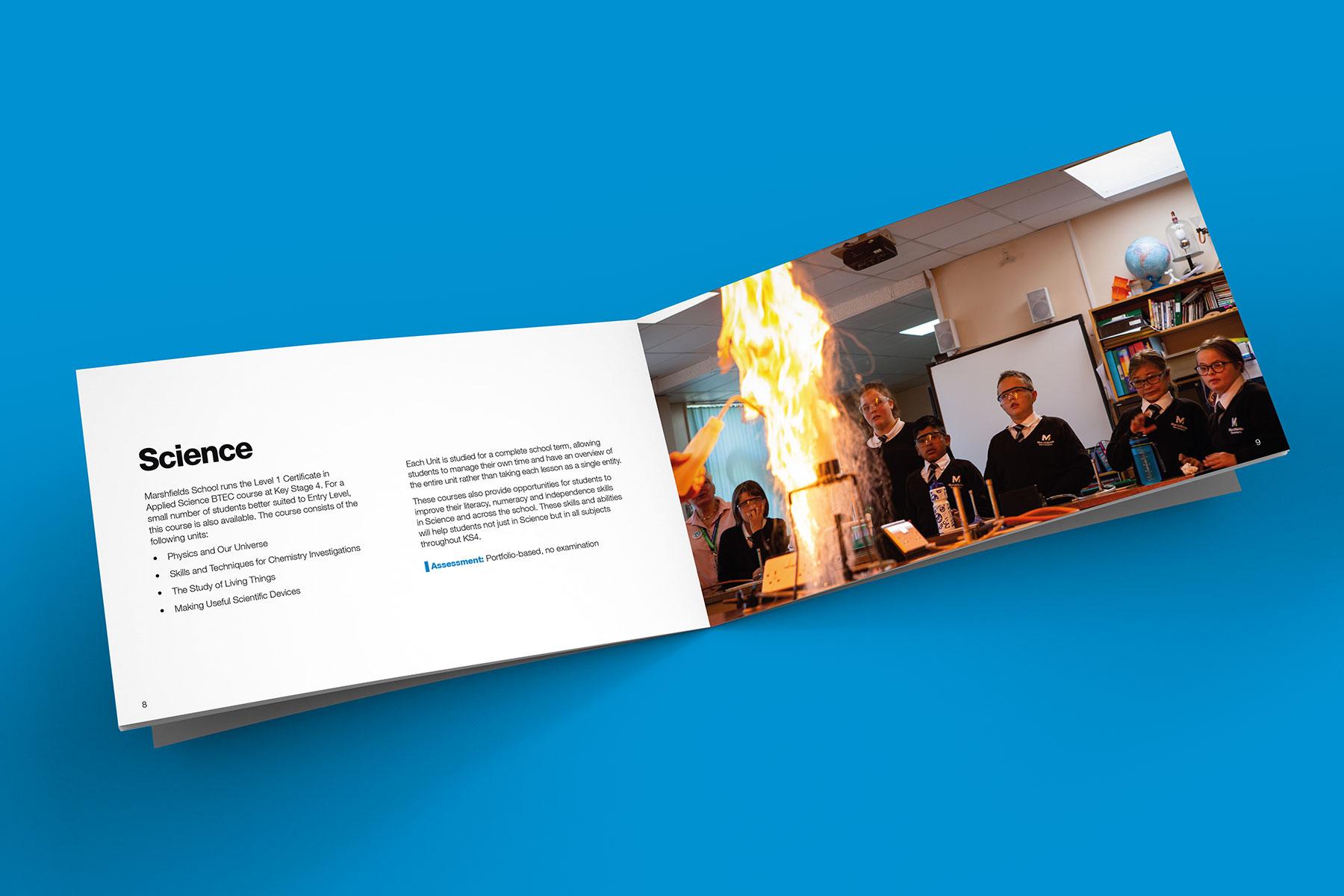 Brochure design for Marshfields branding