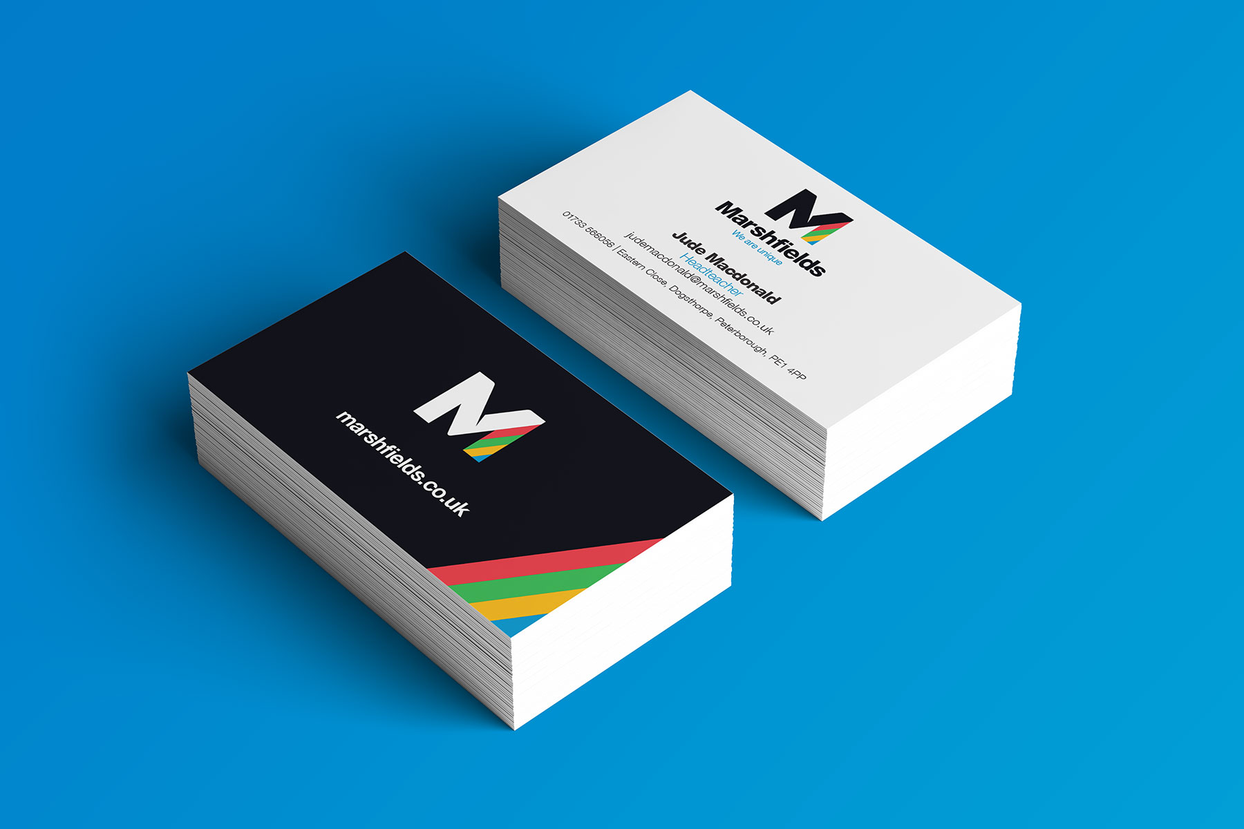 Business cards for Marshfields branding