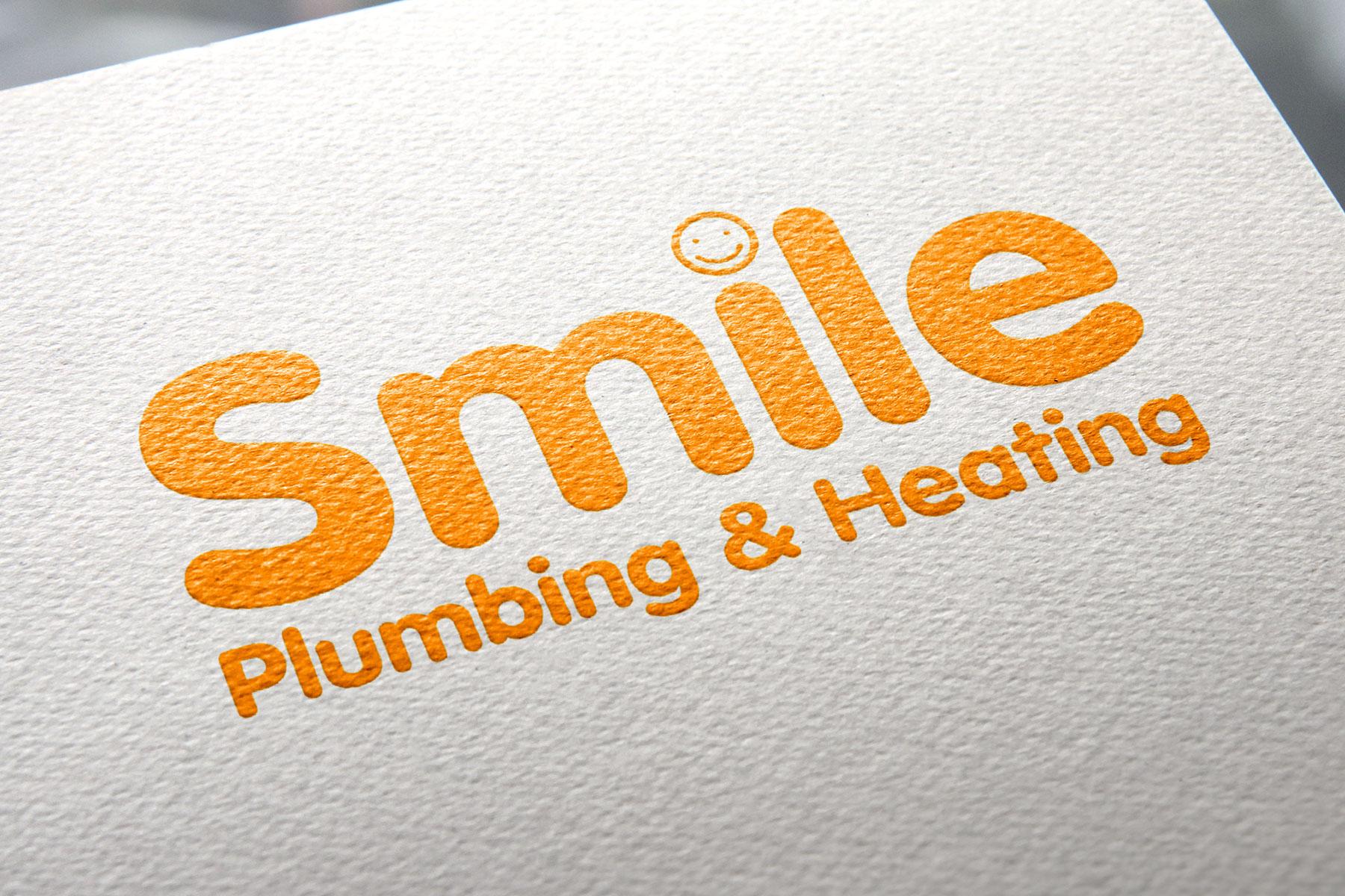 Smile Plumbing branding Logo design