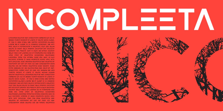 Custom Typeface Design - Rex Face - Incompleeta