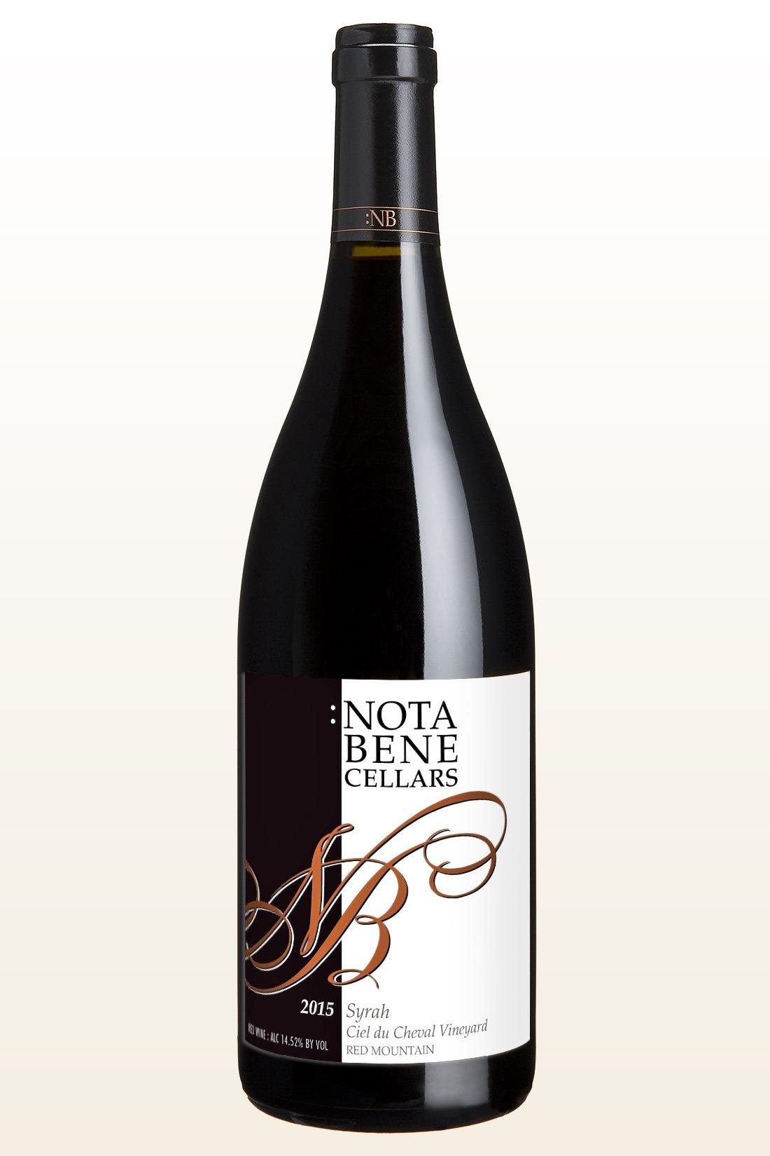 2015 :Nota Bene Syrah - Ciel du Cheval Vineyard