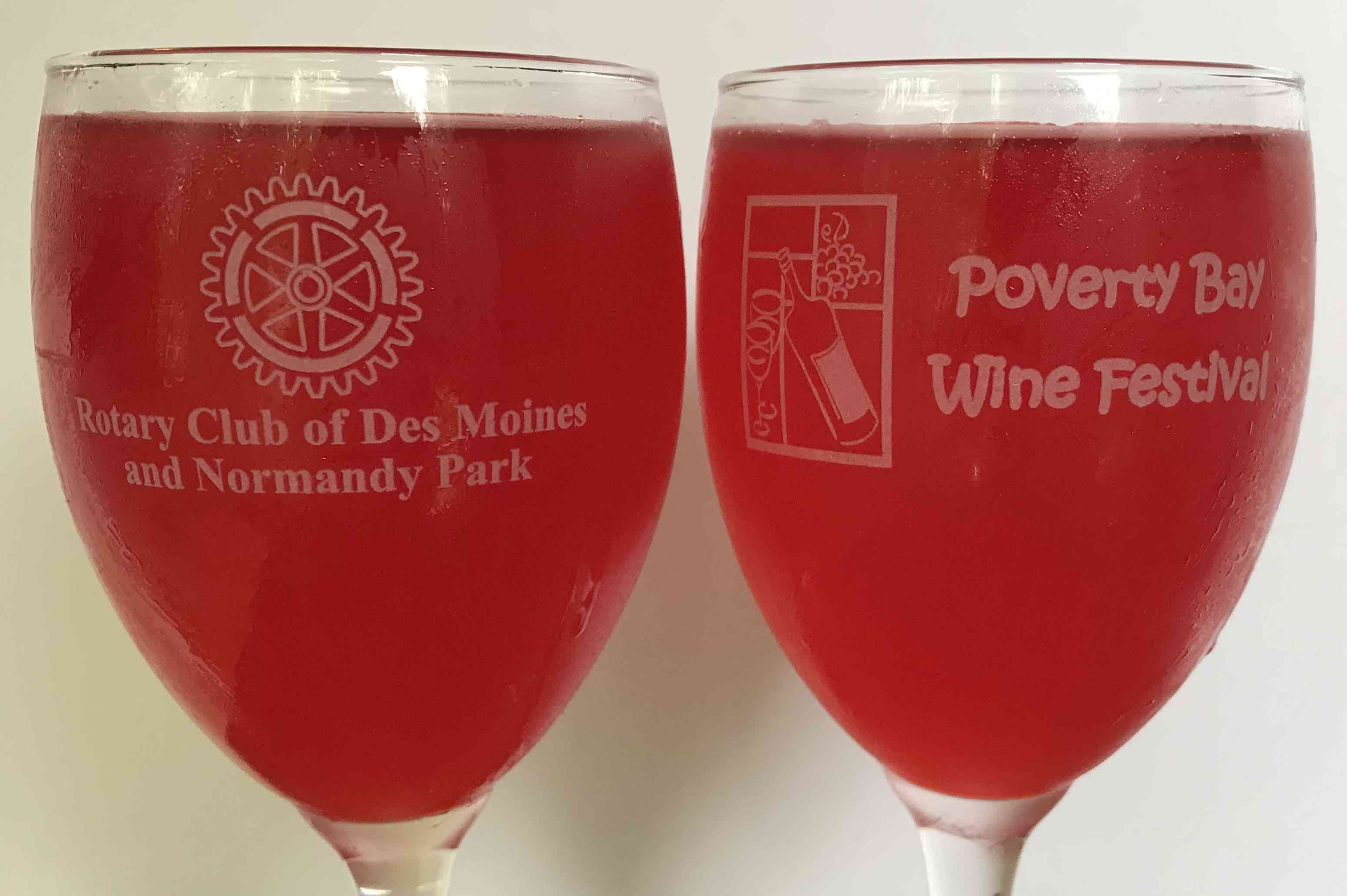 Donation for Two FREE Poverty Bay Wine Festival Glasses