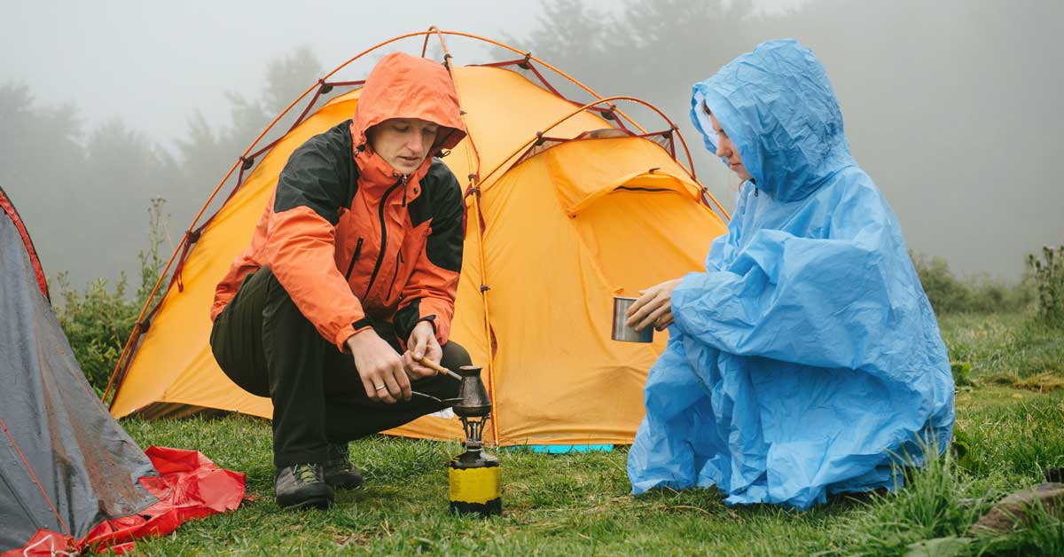Camping In The Rain - Is It Safe? | Today I'm Outside