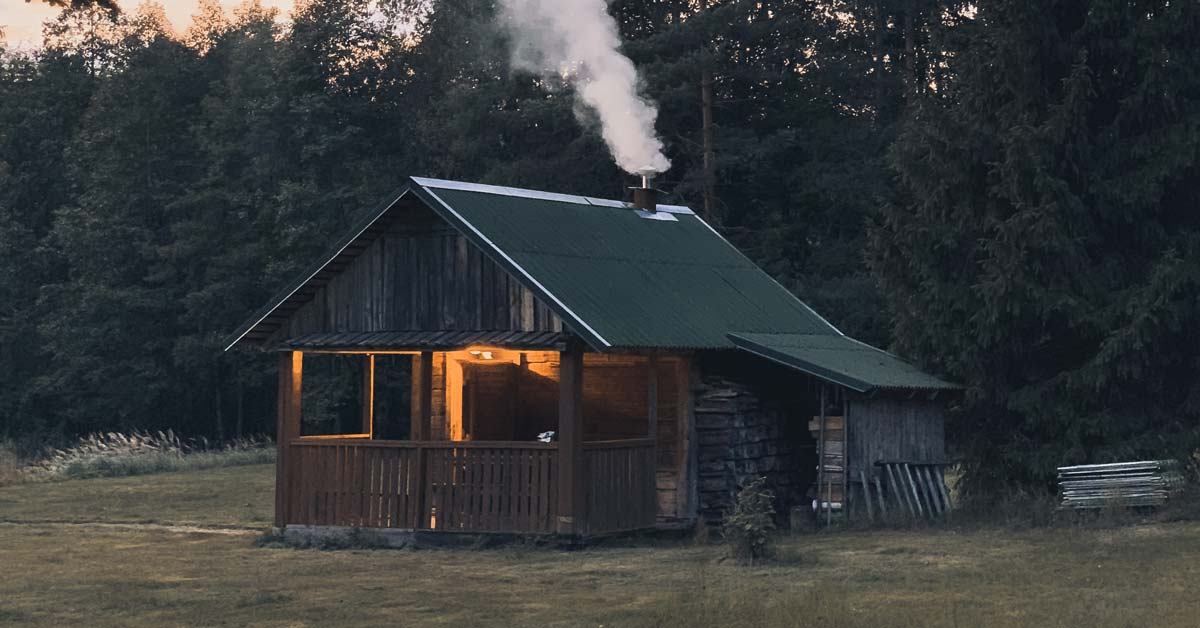Is It Safe to Have a Fire in a Log Cabin? | Today I'm Outside