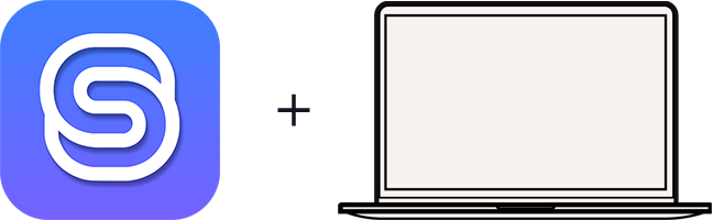 The Spatial Studio app icon and the suggested hardware.
