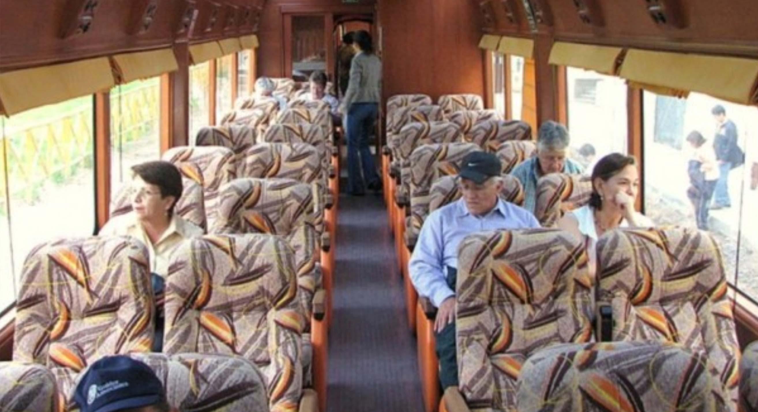 "Inside a carriage of ""Clase Turistico"""