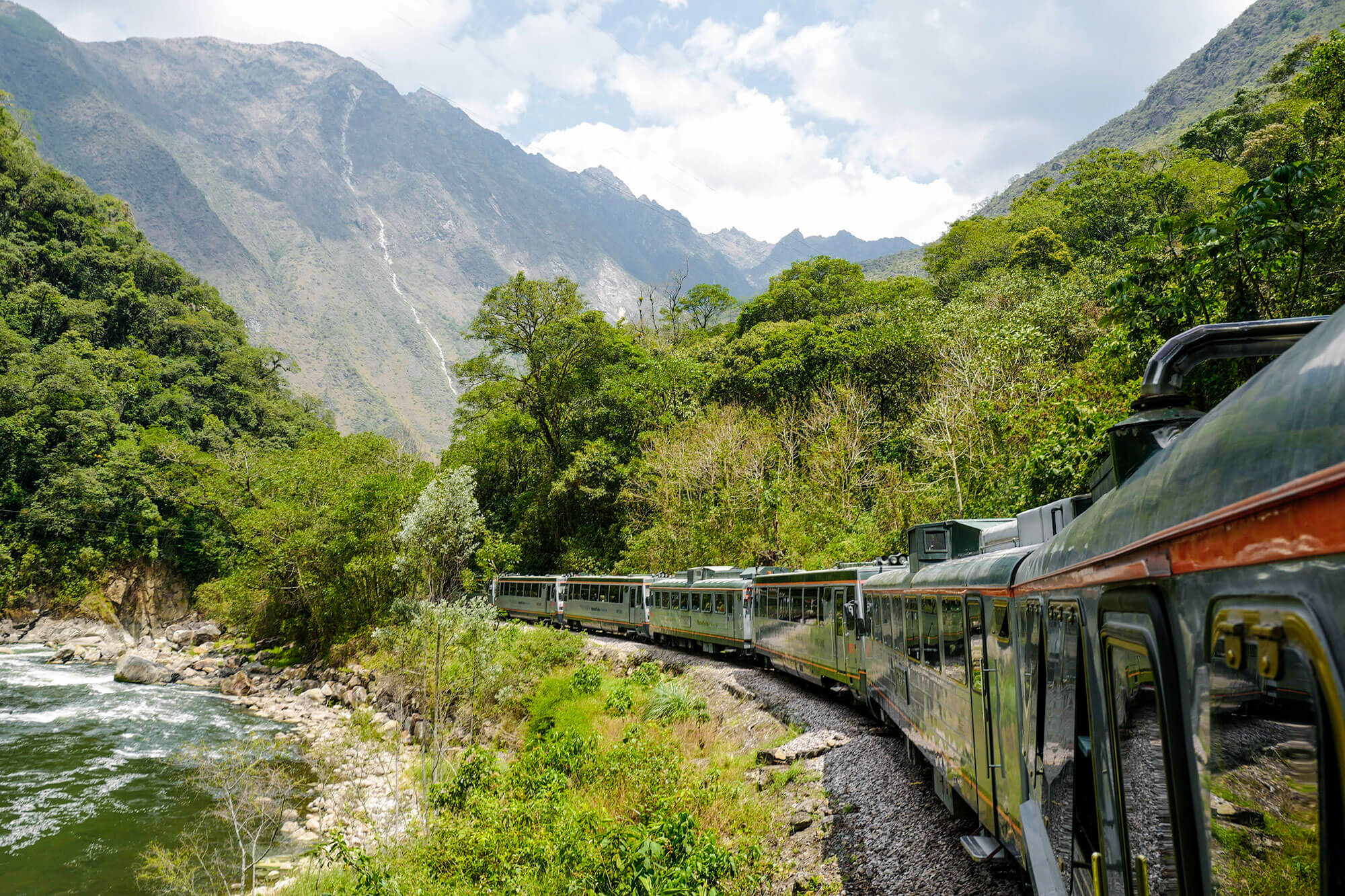 Incarail First Class Train on its way to Aguas Calientes