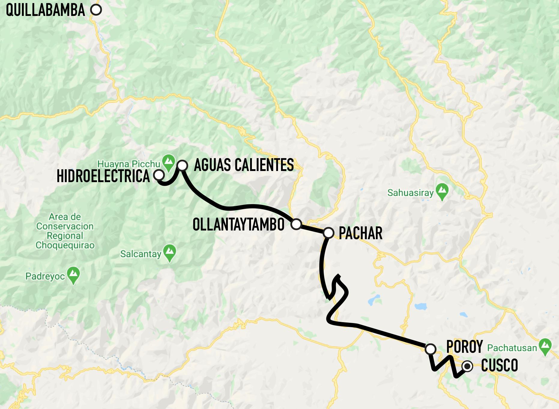 Ferrocarril Santa Ana - Railroad Cusco - Pachar - Aguas Calientes - Hidroelectrica