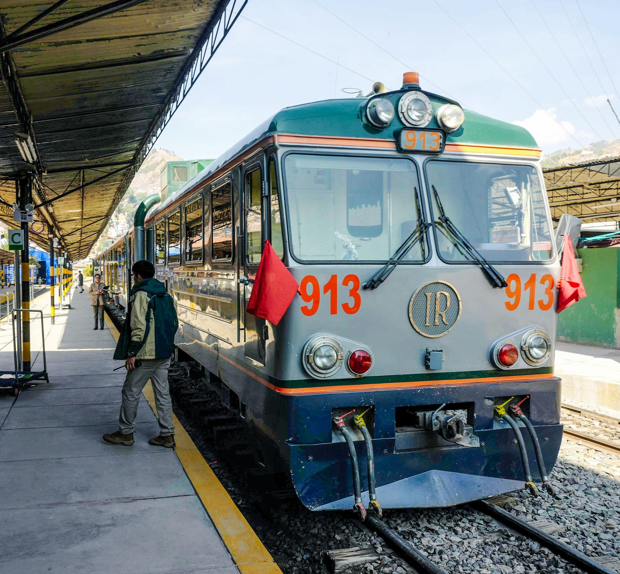 Incarail Train at the San Pedro Railway Station