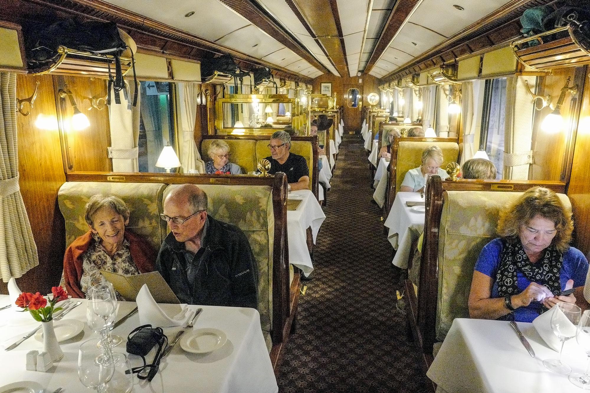 Waiting for Dinner on the Hiram Bingham Train