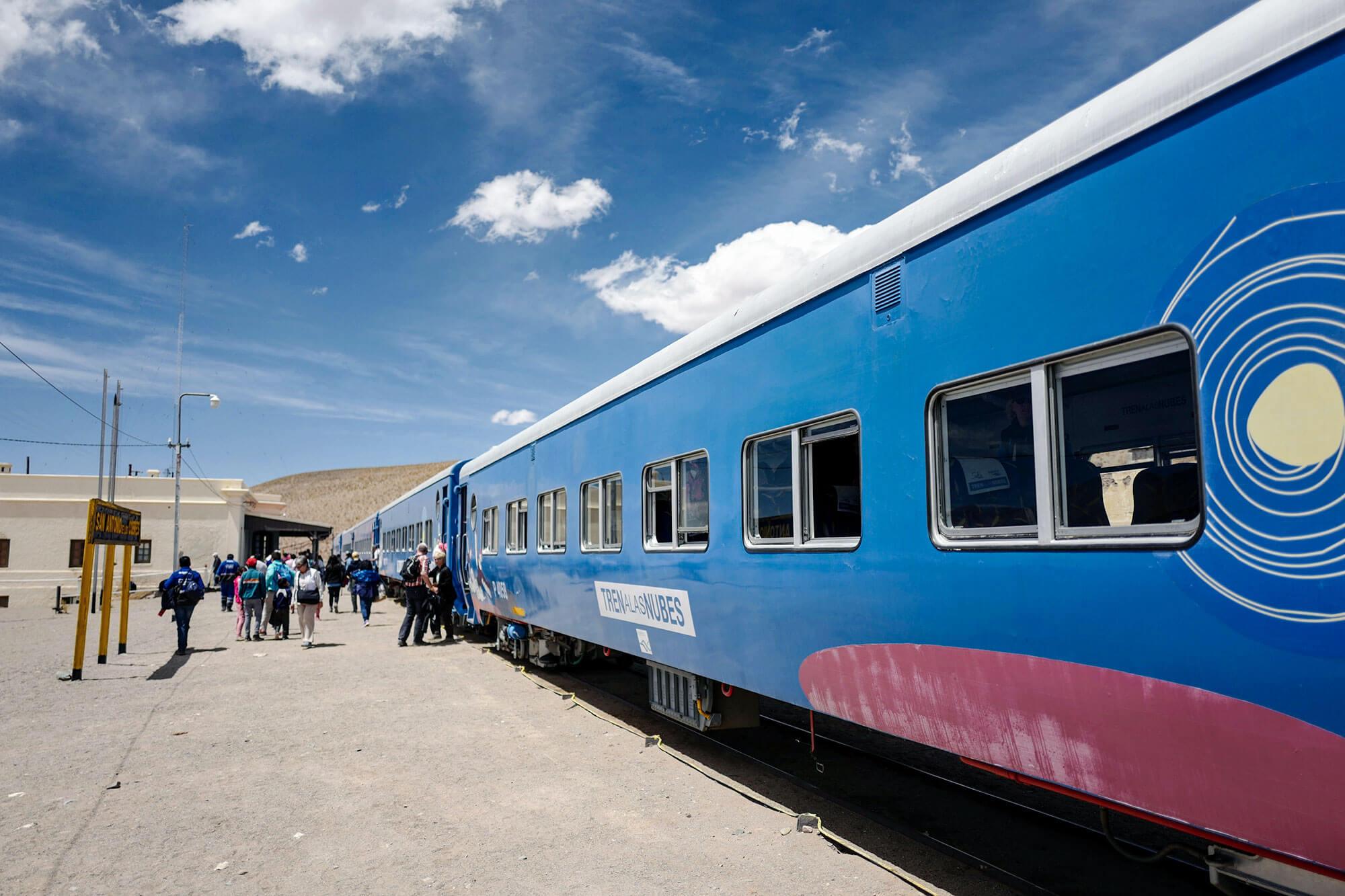 Tren a las Nubes at the Railway Station of San Antonio de los Cobres
