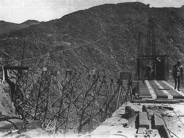 Construction Polvorilla Viaduct
