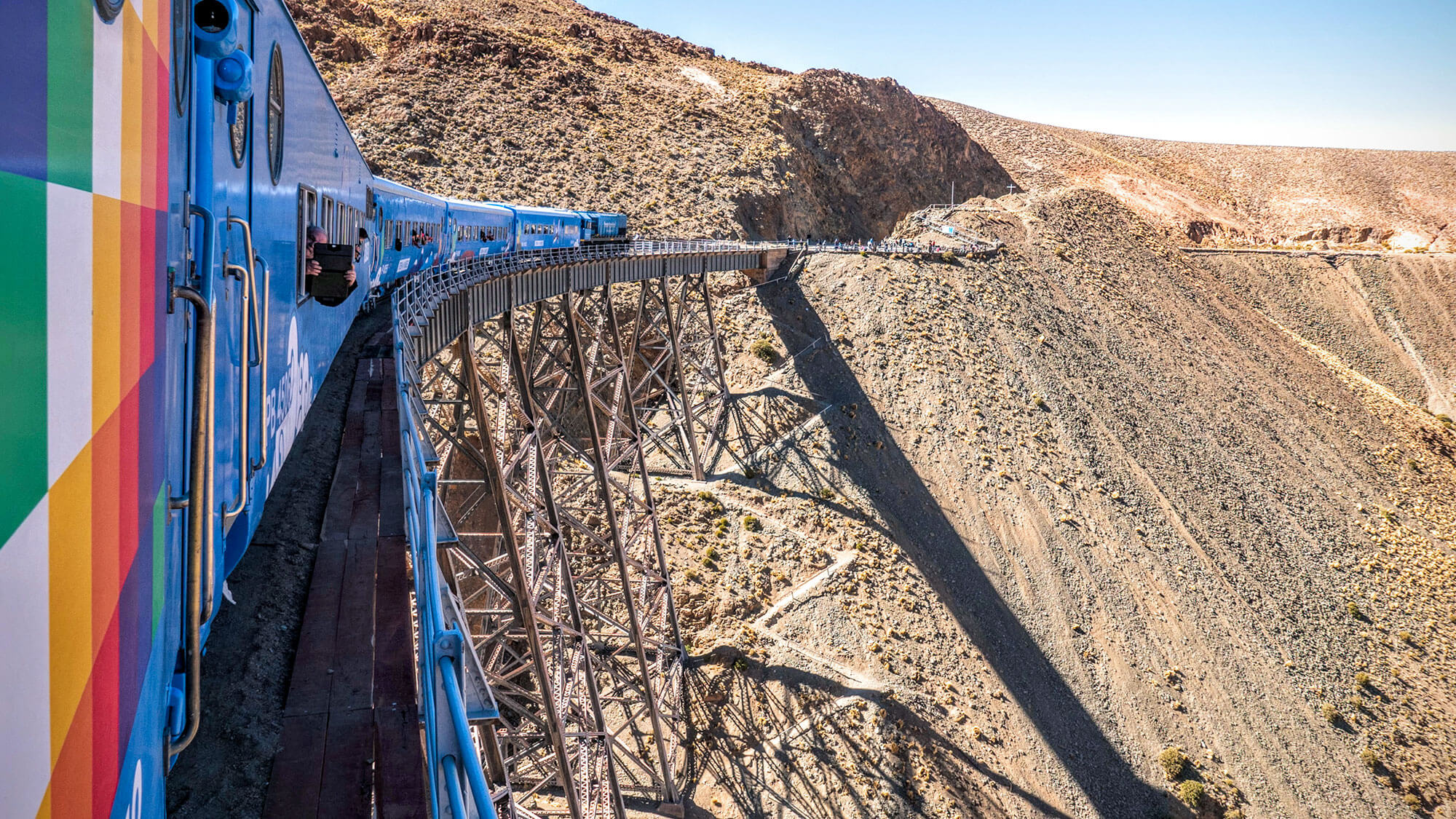 Tren a las Nubes at the Polvorilla Viaduct