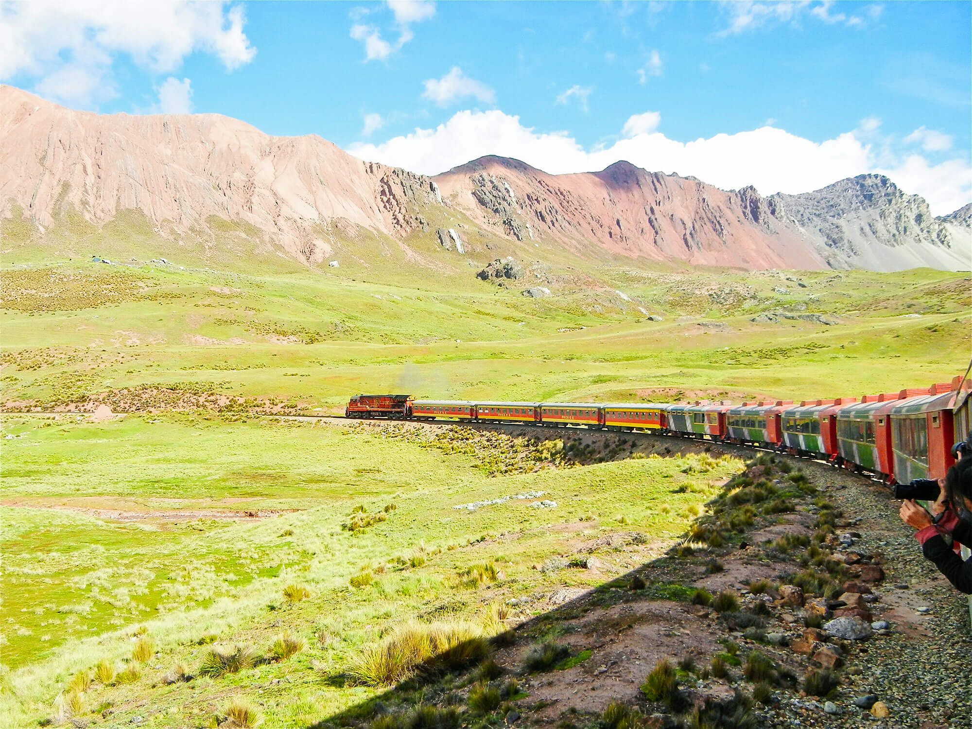 Train Lima - Huancayo between Galera and La Oroya