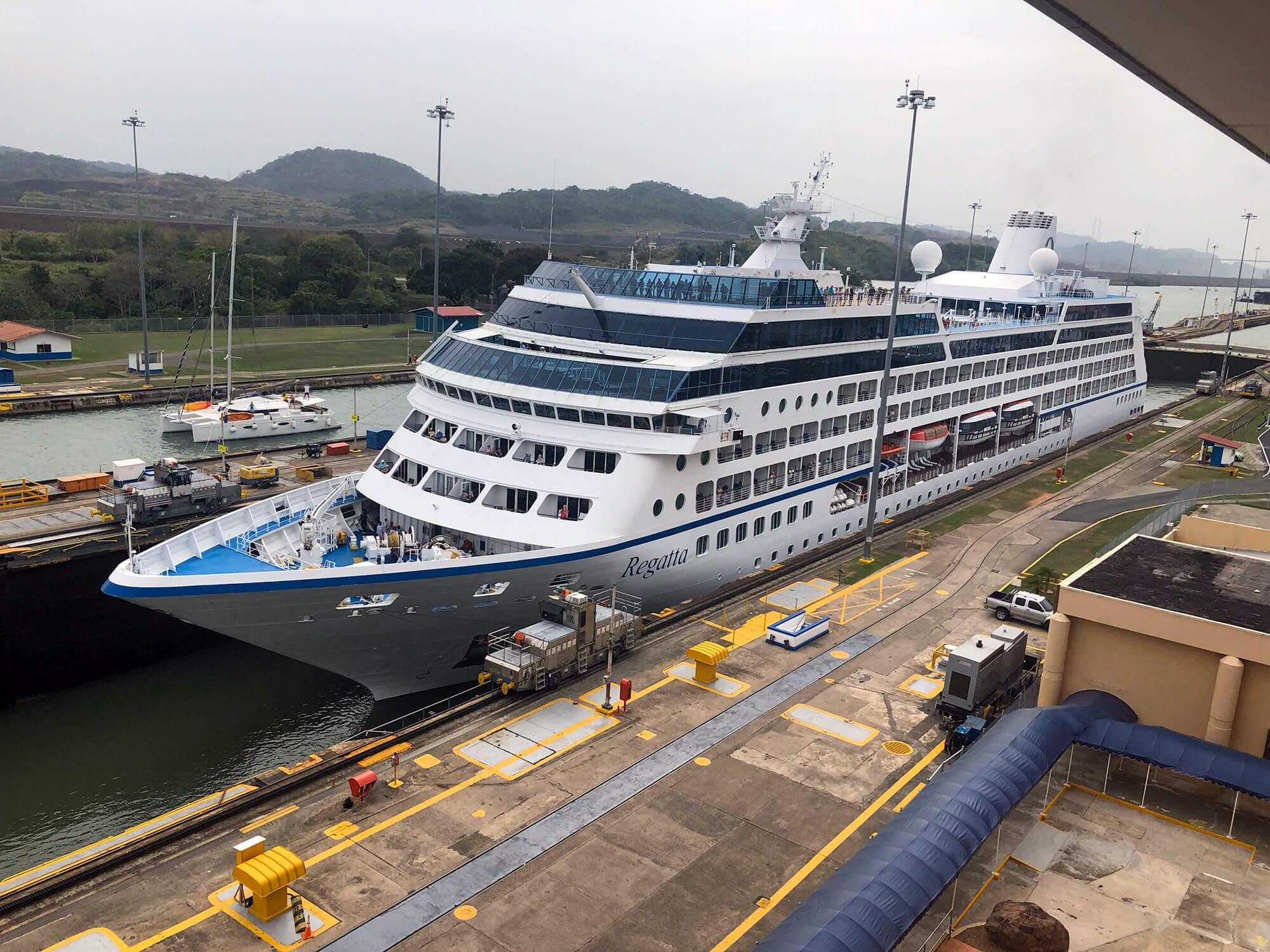 Cruise Ship at the MIraflores Lock