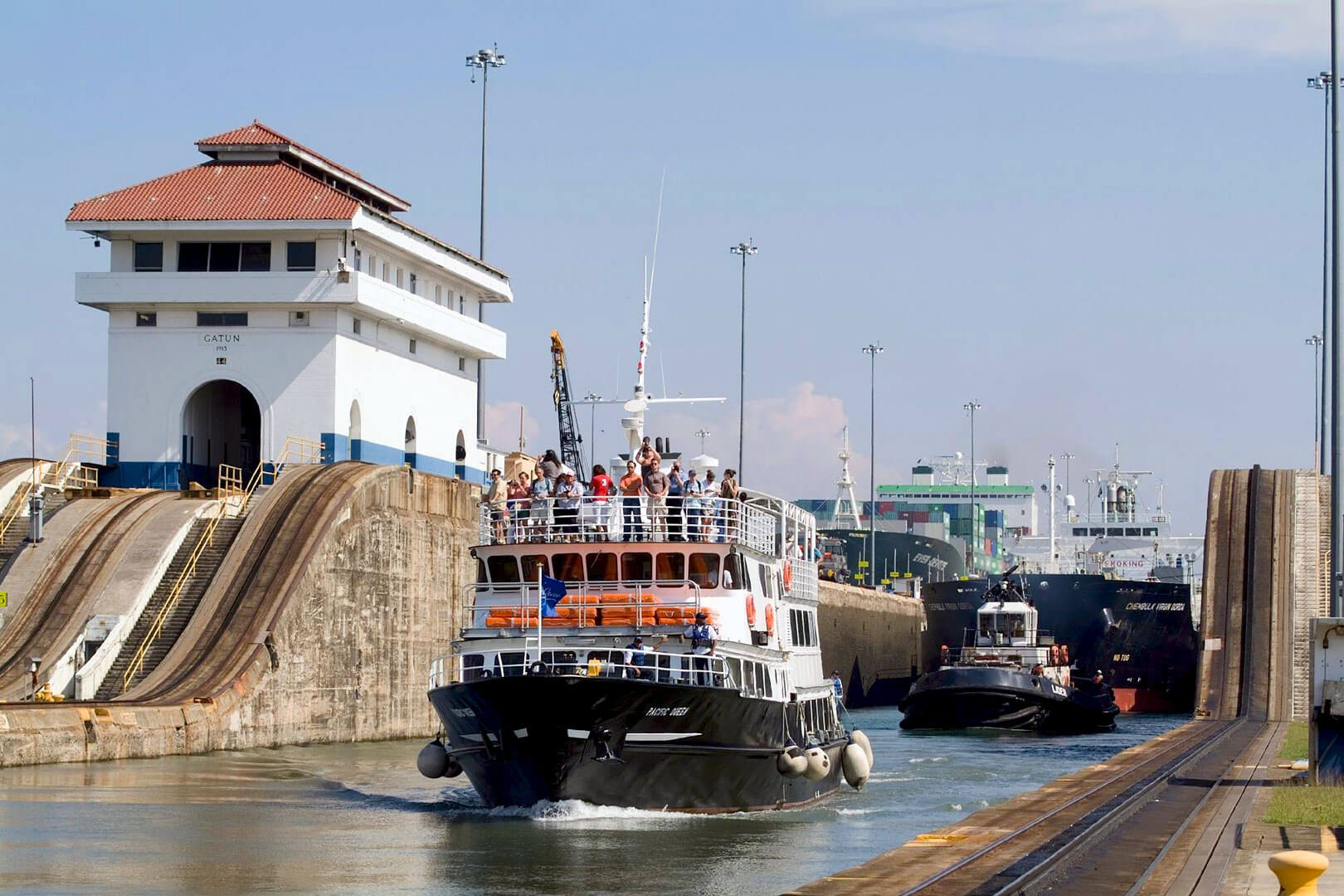 Partial Canal Transit on the Pacific Queen